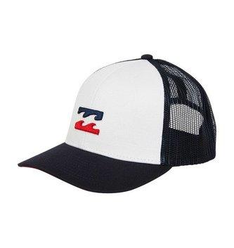 BILLABONG Boys' All Day Trucker Hat - White/Navy