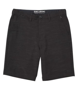 Boys' Crossfire X Slub Hybrid Short Boardshorts - Black