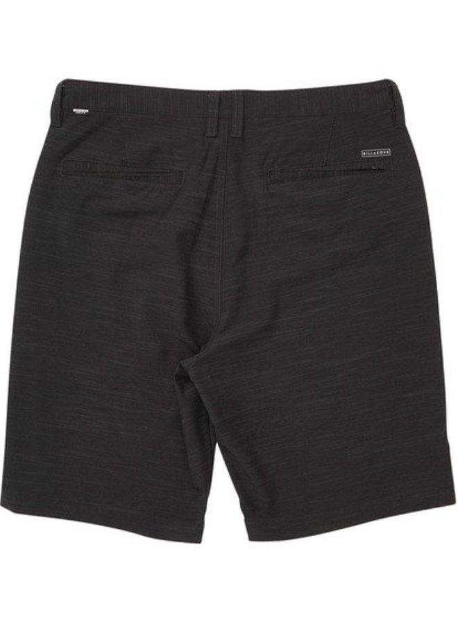 Boys' Crossfire X Slub Hybrid Short Boardshorts - Black