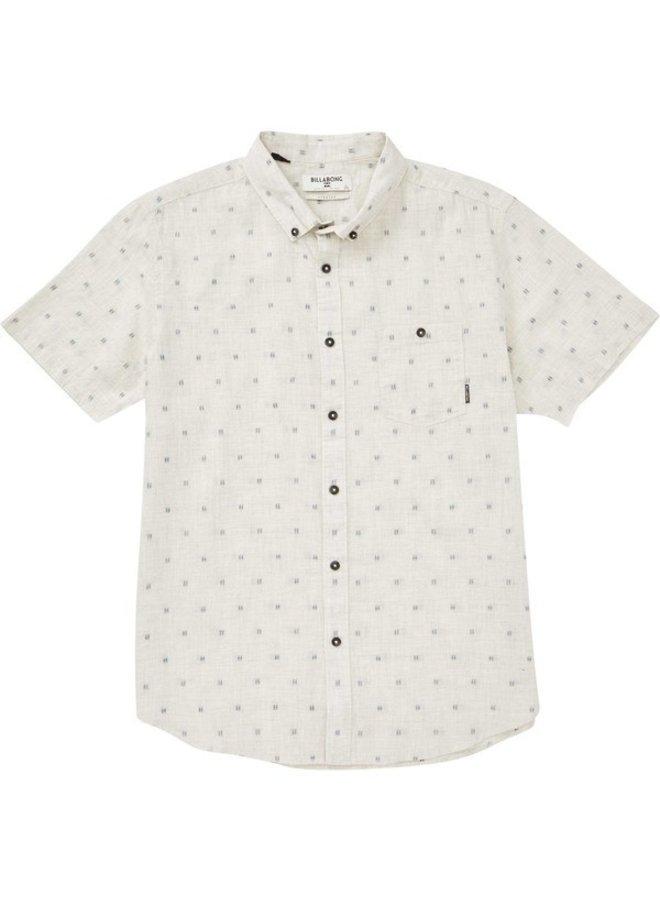 Boys' All Day Jaquard Short Sleeve Shirt - Stone Heather