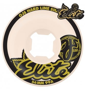 OJ Wheels 56mm Elite White Hardline 99a OJs Skateboard Wheels