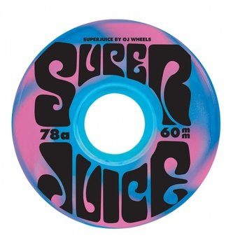 OJ Wheels 60mm Super Juice Blue/Pink Swirl 78a OJs Skateboard Wheels
