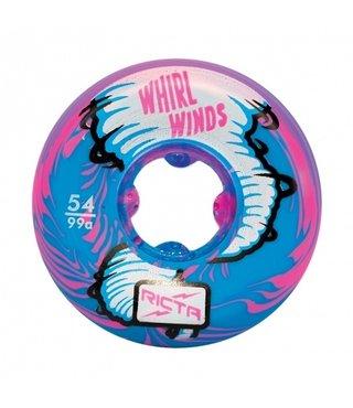 54mm Whirlwinds Blue/Pink 99a Ricta Skateboard Wheels