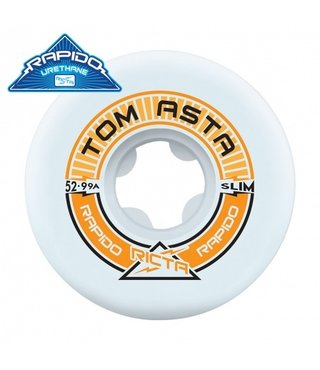 52mm Asta Pro Rapido Slim 99a Ricta Skateboard Wheels