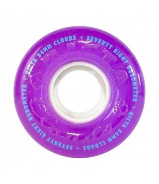54mm Crystal Clouds Purple 78a Ricta Skateboard Wheels