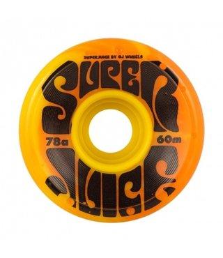 60mm Super Juice Yellow/Orange 78a OJs Skateboard Wheels