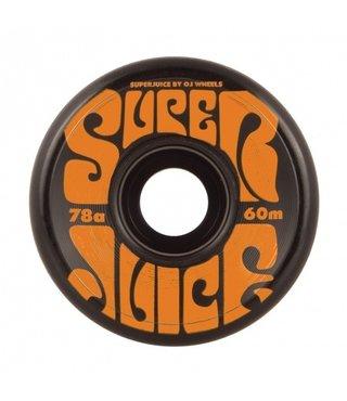 60mm Super Juice Black 78a OJs Skateboard Wheels