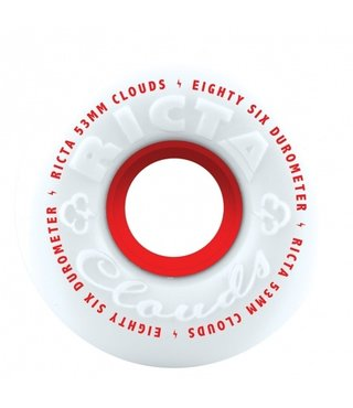 53mm Clouds Red White 86a Ricta Skateboard Wheels