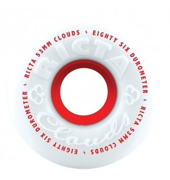 Ricta Wheels 53mm Clouds Red White 86a Ricta Skateboard Wheels