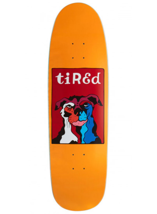 "9.25"" Tired Grumpy Old Dog On Sigar Skateboard Deck"
