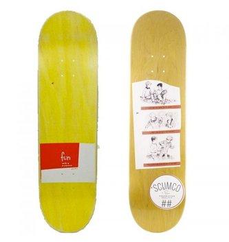 "Scumco Skateboards 8.375"" Scumco Highlights Skateboard Deck"