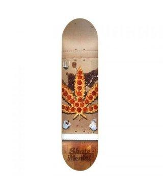 """8.125"""" S.Mental Pizza Leaf Skateboard Deck"""
