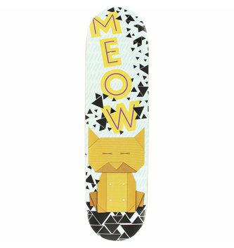 "Meow Skateboards 8"" Meow Origami Cat Skateboard Deck"