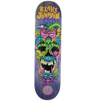 "Santa Cruz Skateboards 8.375"" x 32"" Cruz Johnson Rad Skull Skateboard Deck"