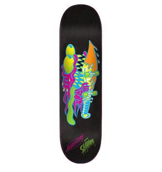 "Santa Cruz Skateboards 8.375"" x 32"" Cruz Neon Slasher Skateboard Deck"