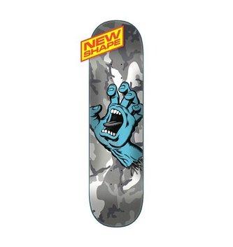 "Santa Cruz Skateboards 8.5"" x 32.3"" Cruz Screaming Hand Camo Skateboard Deck"