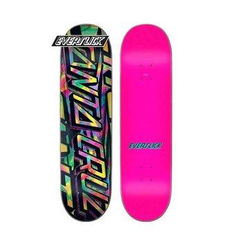 "Santa Cruz Skateboards 8.5"" x 32.2"" Cruz Acid Strip Everslick Skateboard Deck"
