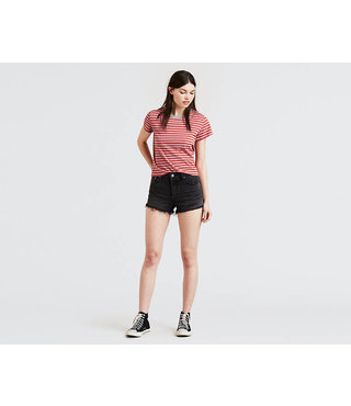 Women's 501® Shorts - Trashed Black