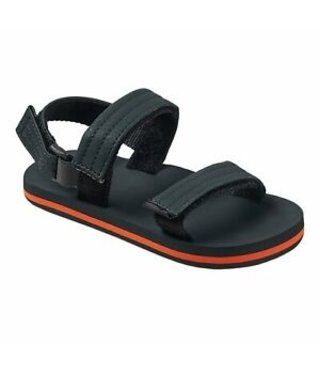 Little Ahi Convertible Kids Sandals - Grey/Orange