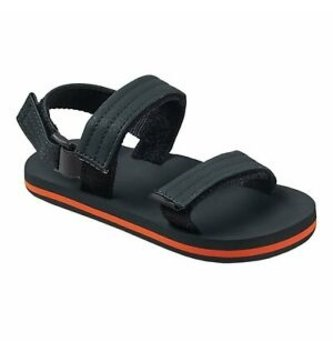 REEF Little Ahi Convertible Kids Sandals - Grey/Orange
