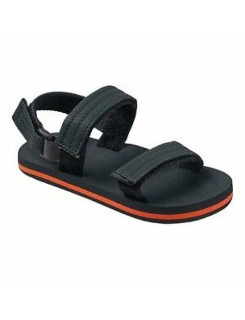 REEF Little Ahi Convertible Kids Sandals - Grey/Orange