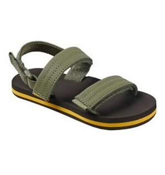REEF Little Ahi Convertible Kids Sandals - Brown/Olive