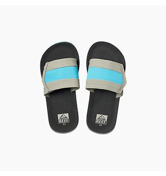 REEF Kids Ahi Slide Sandals - Grey/Blue