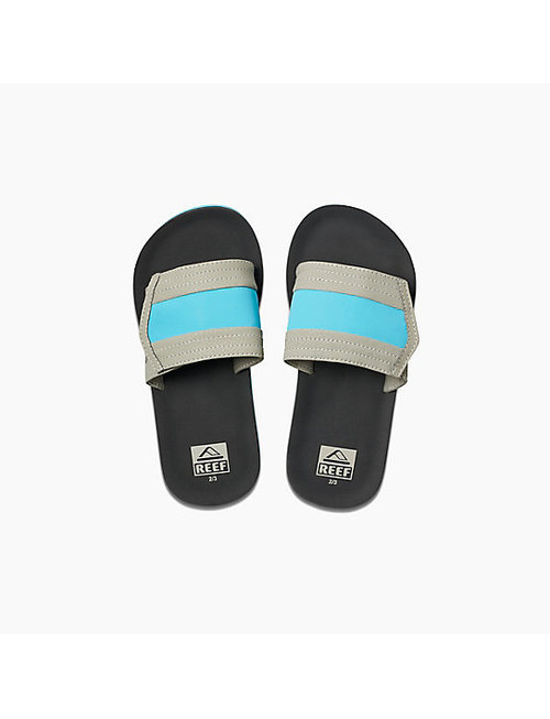 REEF Kids Ahi Slide Sandals - Grey/Blue