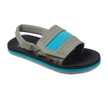Little Ahi Slide Kids Sandals - Grey/Blue