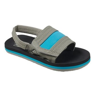 REEF Little Ahi Slide Kids Sandals - Grey/Blue