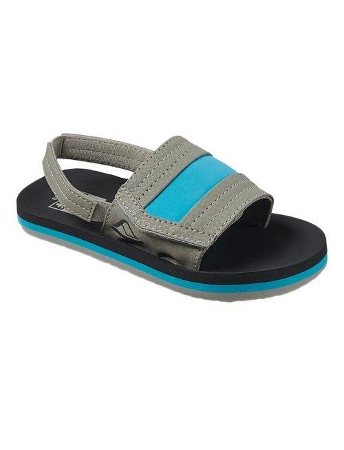 REEF Little Ahi Slide Kids Sandals - Grey/Blue