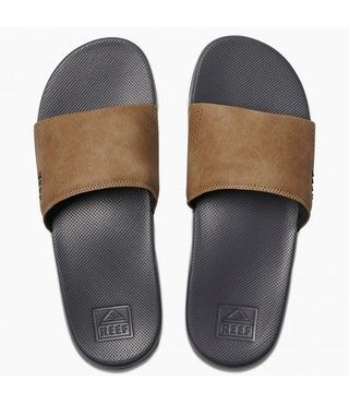 Reef One Slide Men's Sandals - Grey/Tan