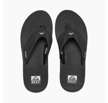 Men's Fanning Sandals - Black/Silver