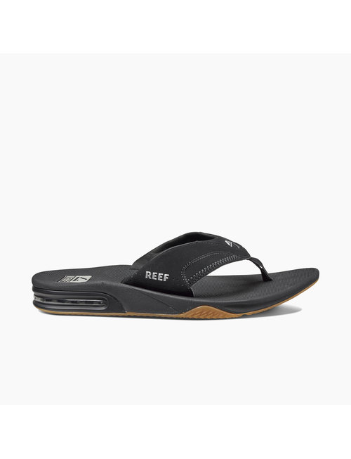 REEF Men's Fanning Sandals - Black/Silver