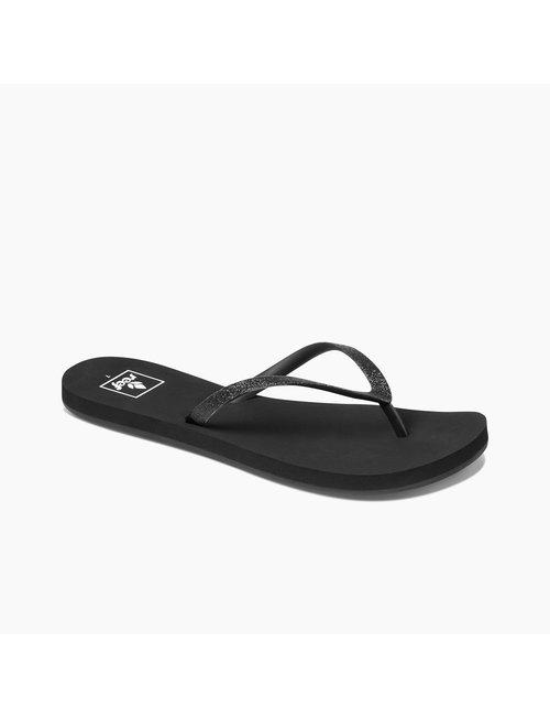 REEF Women's Stargazer Sandals - Black/Black