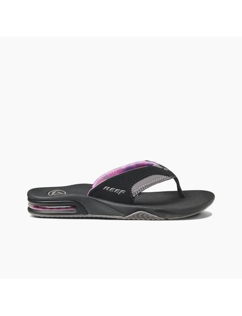 REEF Women's Fanning Sandals - Black/Grey