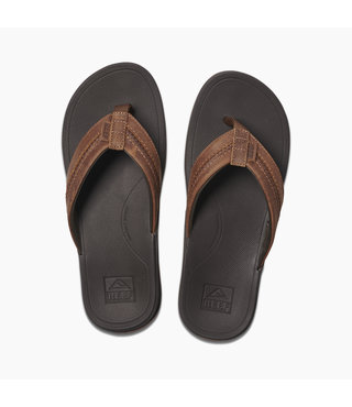 Leather Ortho-Bounce Coast Men's Sandals - Brown