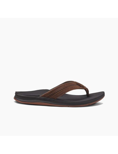 REEF Leather Ortho-Bounce Coast Men's Sandals - Brown