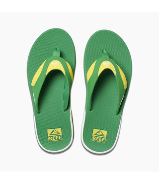 Men's Fanning Sandals - Green/Yellow