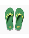 REEF Men's Fanning Sandals - Green/Yellow