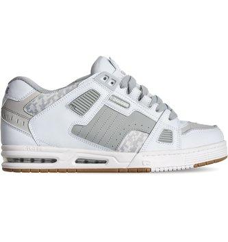 GLOBE FOOTWEAR Globe Sabre Men's Skate Shoes - White/Grey/Gum