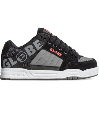 Globe Tilt Kid's Skate Shoes - Black/Red/Grey Knit