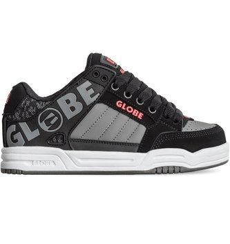 GLOBE FOOTWEAR Globe Tilt Kid's Skate Shoes - Black/Red/Grey Knit