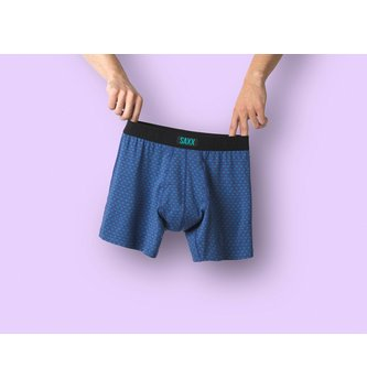 SAXX UNDERWEAR Undercover Boxer Brief - Blue Scratches