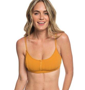 ROXY Color My Life Bralet Bikini Top/Regular Bottom - Inca Gold