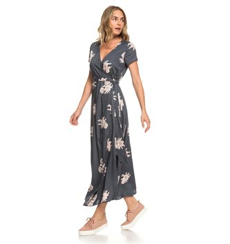 ROXY District Day Short Sleeve Maxi Dress - Turbulence Rose and Pearls