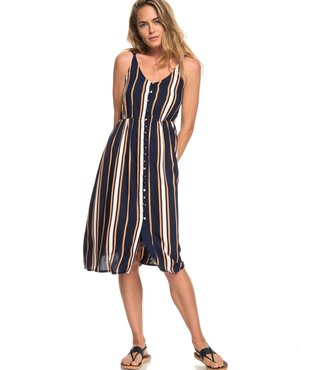 Sunset Beauty Strappy Midi Dress - Dress Blue Macy Stripe
