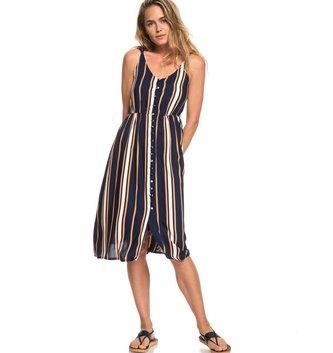 ROXY Sunset Beauty Strappy Midi Dress - Dress Blue Macy Stripe