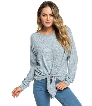 After Sunrise Long Sleeve Top - Blue Mirage Heather