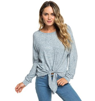 ROXY After Sunrise Long Sleeve Top - Blue Mirage Heather